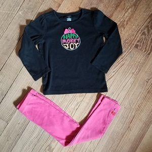 Gymboree Shirt and Pants Christmas Set 5t
